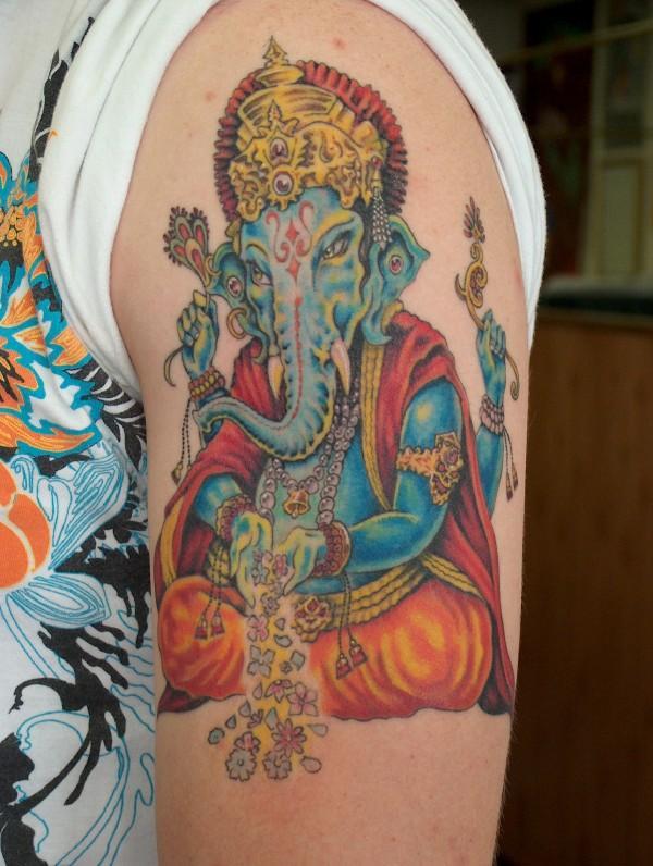 drew winner electric tiger tattoo